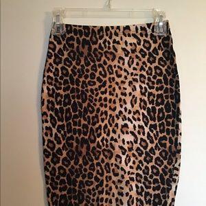 Leopard cheetah spandex skirt